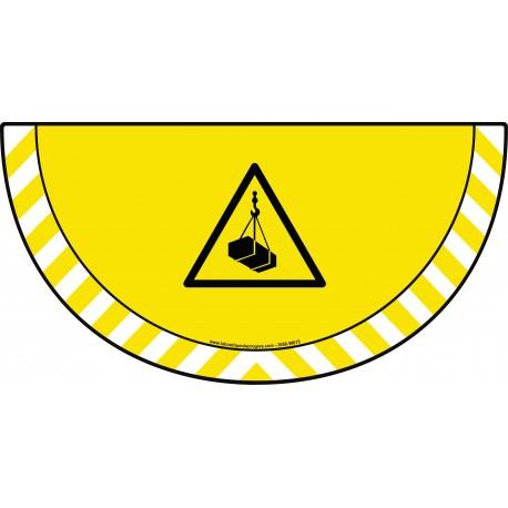 Picto demi cercle Cat.1 - visuel W015 - Danger charges suspendues