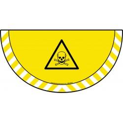 Picto demi cercle Cat.1 - visuel W016 - Danger matières toxiques