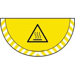 Picto demi cercle Cat.1 - visuel W017 - Danger surface chaude