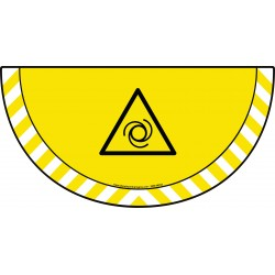 Picto demi cercle Cat.1 - visuel W018 - Danger démarrage automatique