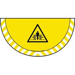 Picto demi cercle Cat.1 - visuel W019 - Danger écrasement