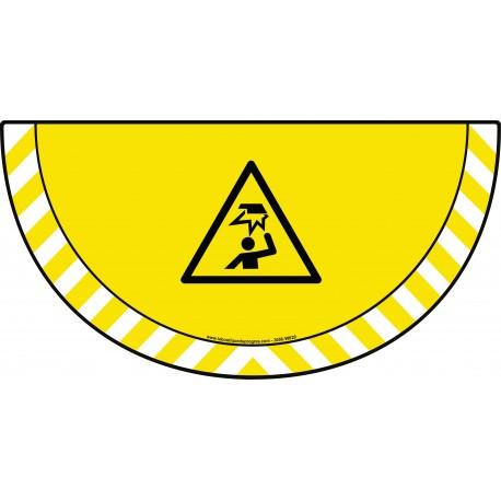 Picto demi cercle Cat.1 - visuel W020 - Danger obstacle en hauteur