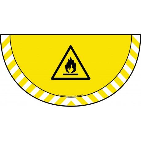 Picto demi cercle Cat.1 - visuel W021 - Danger matières inflammables