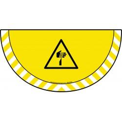 Picto demi cercle Cat.1 - visuel W022 - Danger élément pointu