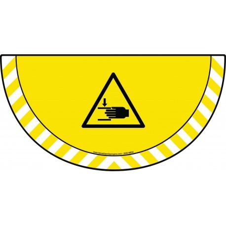 Picto demi cercle Cat.1 - visuel W024 - Danger écrasement des mains