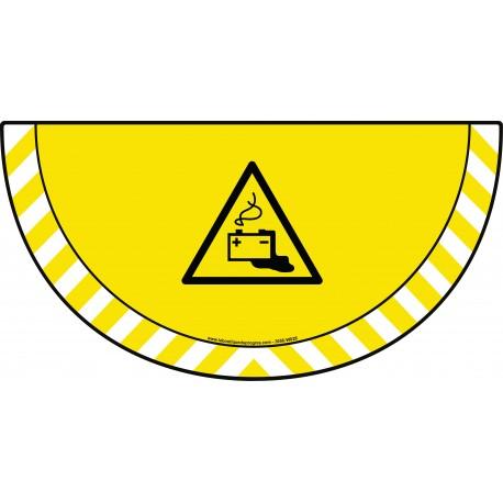 Picto demi cercle Cat.1 - visuel W026 - Danger charge de la batterie en cours