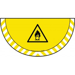 Picto demi cercle Cat.1 - visuel W028 - Danger substances comburantes