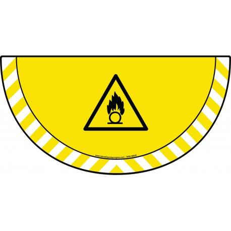 Picto demi cercle Cat.1 - visuel W028 - Danger substances comburantes