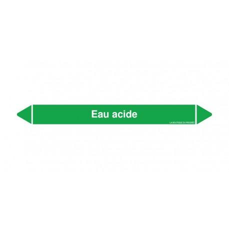 Marqueurs Tuyaux - Eau acide