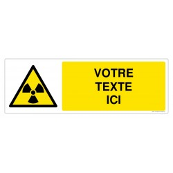 W003 - Danger matières radioactives + Texte