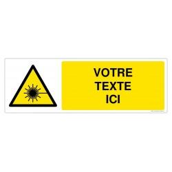W004 - Danger rayonnement laser + Texte