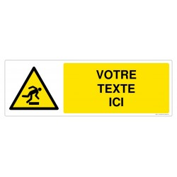 W007 - Danger trébuchement + Texte
