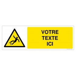 W008 - Danger de chute + Texte