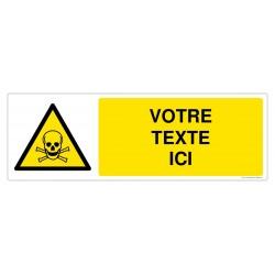 W016 - Danger matières toxiques + Texte