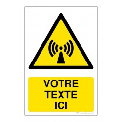 W005 - Danger radiations non ionisantes + Texte