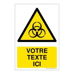 W009 - Danger risque biologique + Texte