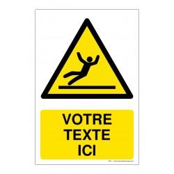 W011 - Danger surface glissante + Texte