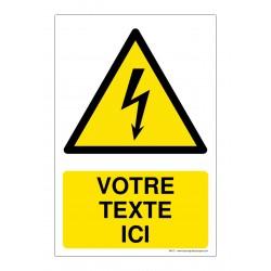 W012 - Danger électricité + Texte