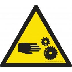 Picto adhésif - W154 - Attention à vos mains