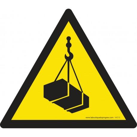 Pictogramme Danger charges suspendues W015