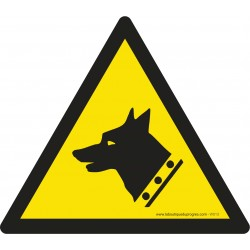 Pictogramme Danger chien de garde W013