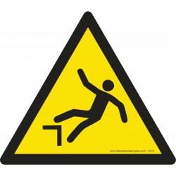 Pictogramme Danger de chute W008