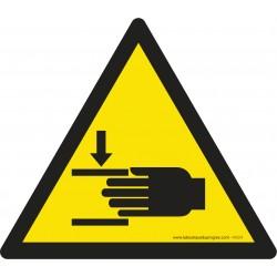 Pictogramme Danger écrasement des mains W024