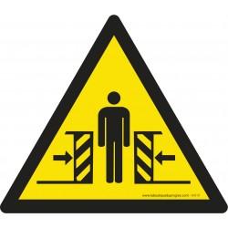 Pictogramme Danger écrasement W019