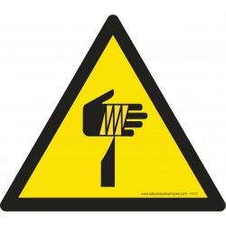 Pictogramme Danger élément pointu W022