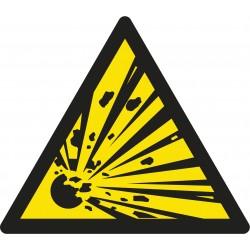 Pictogramme Danger matières explosives W002