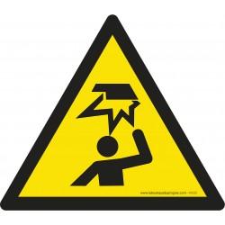Pictogramme Danger obstacle en hauteur W020