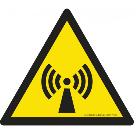 Pictogramme Danger radiations non ionisantes W005