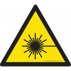 Pictogramme Danger rayonnement laser W004