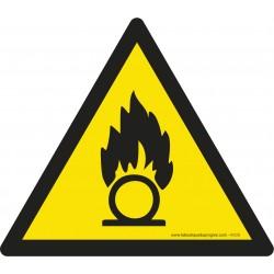 Pictogramme Danger substances comburantes W028
