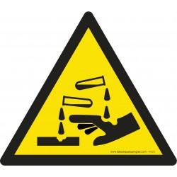Pictogramme Danger substances corrosives W023