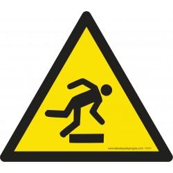 Pictogramme Danger trébuchement W007