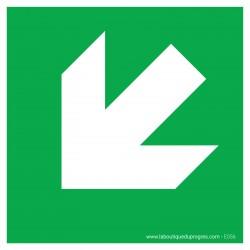 Pictogramme Flèche 45° bas gauche E056