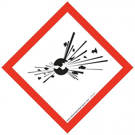 Pictogramme règlementation CLP Matières explosibles GSH01