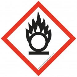 Pictogramme règlementation CLP Matières comburantes GHS03