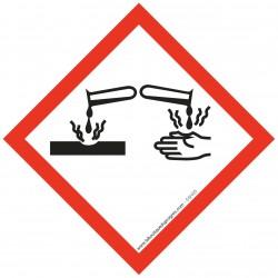 Pictogramme règlementation CLP Matières corrosives GHS05