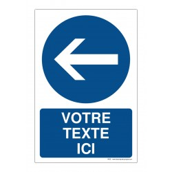 R002 - Obligation de tourner à gauche + Texte