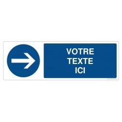 R001 - Obligation de tourner à droite + Texte