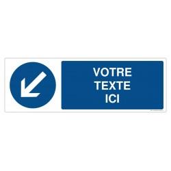 R004 - Contournement obligatoire par la gauche + Texte