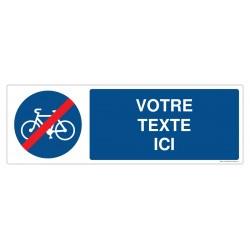 R006 - Fin de piste obligatoire pour les cycles + Texte