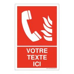 F406 - Téléphone d'urgence + Texte