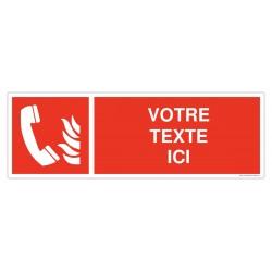 Téléphone d'urgence + Texte