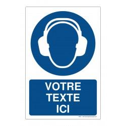 M003 - Port du casque anti-bruit obligatoire + Texte