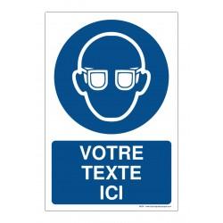 M004 - Port des lunettes de protection obligatoire + Texte