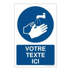 M011 - Lavage des mains obligatoire + Texte