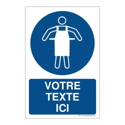 M026 - Tablier de protection obligatoire + Texte